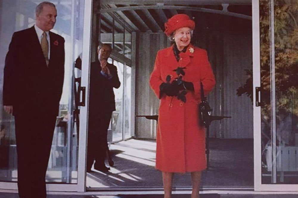 HM THE QUEEN AT PHYLLIS COURT