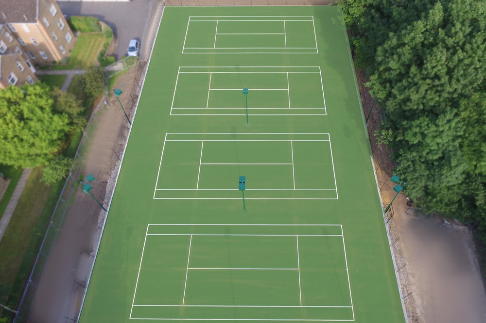 Tennis Courts Completed