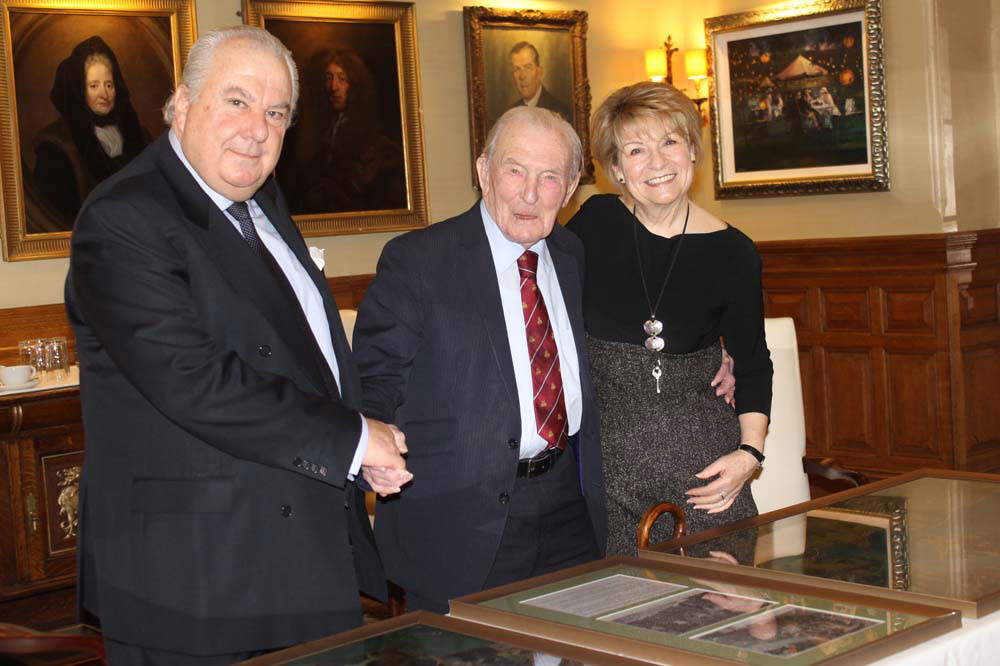 Philip Nugus (left), Johnny Johnson (centre), Patricia Christmas (right)