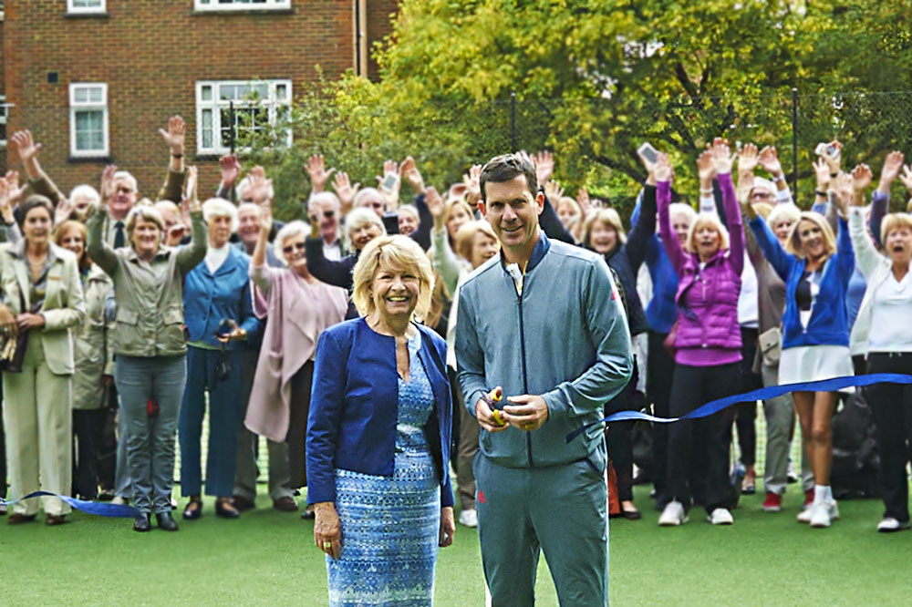 HENMAN OFFICIALLY OPENS TENNIS COURTS
