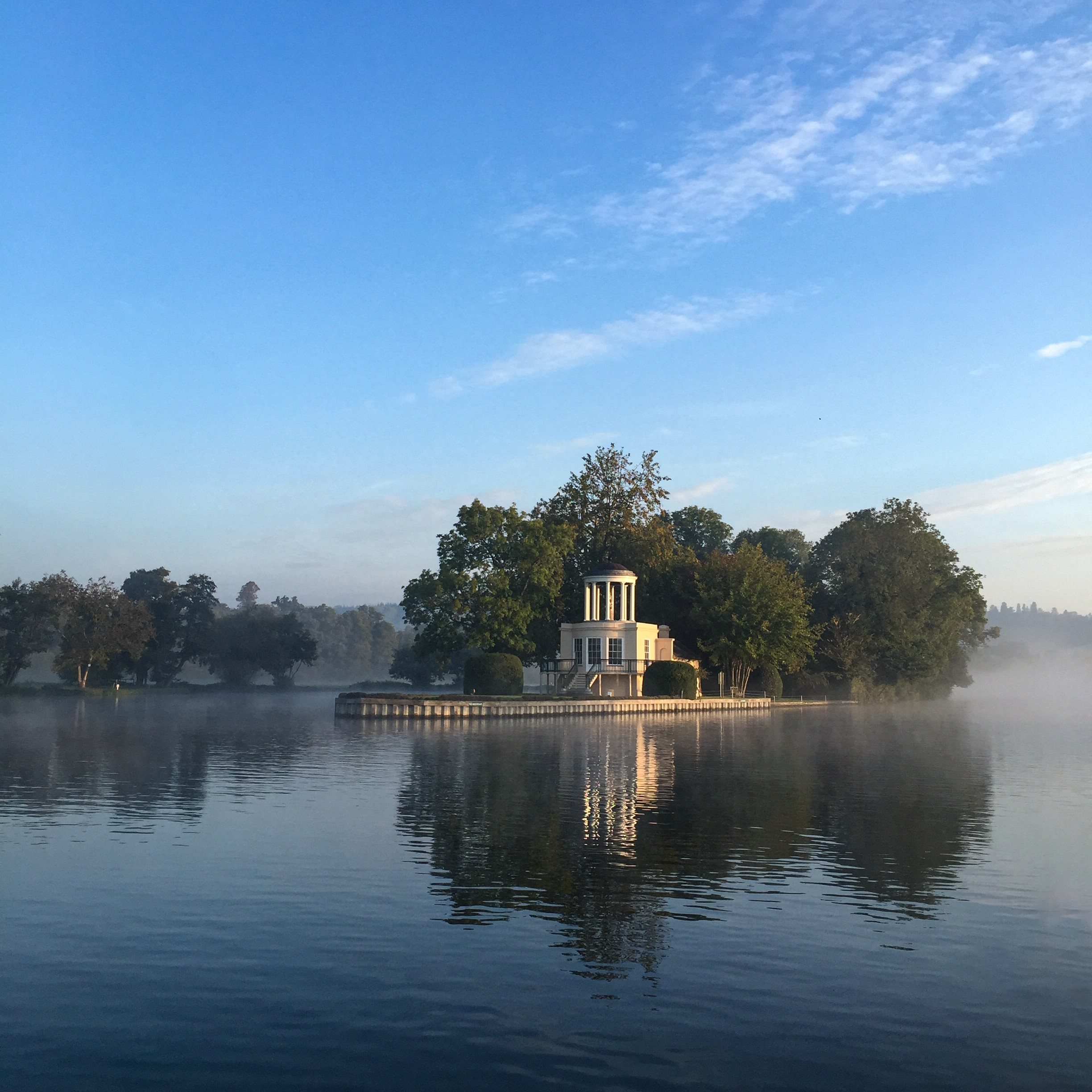 Temple Island in the morning mist