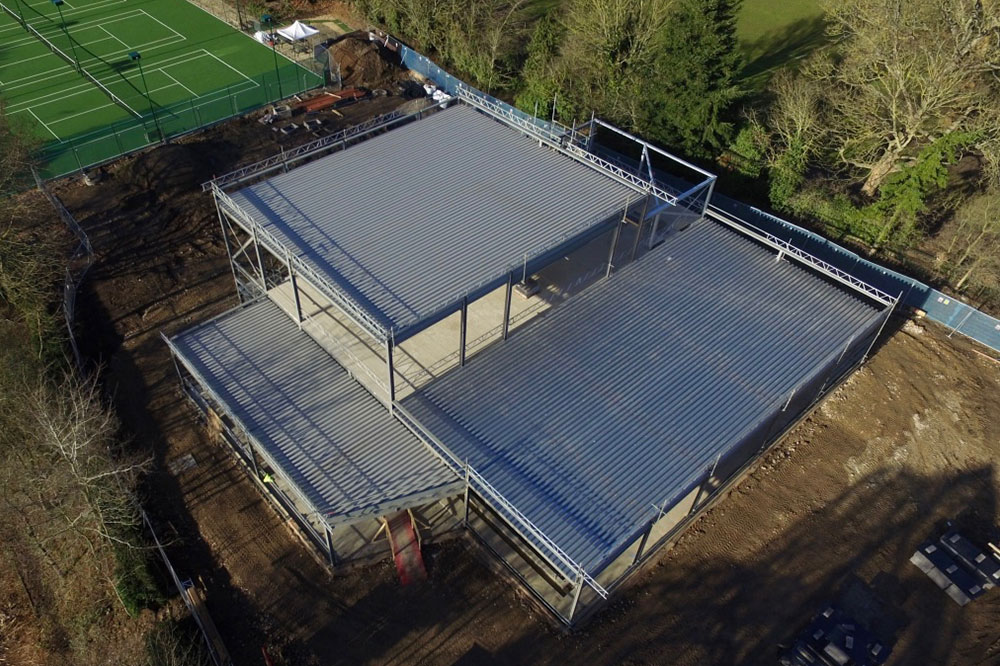 Fitness Centre Roof Constructed